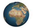 globo dall'europa, africa e arabia