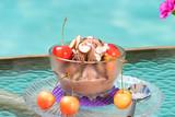 chocolate cherry almond sundae poster