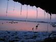 Leinwandbild Motiv boete sous la glace