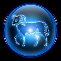aries zodiac button icon