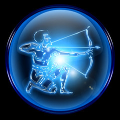 sagittarius zodiac button icon