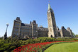 spring at canada's parliament building