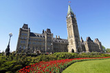 spring at canada's parliament building poster