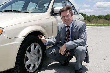 flat tire - screwed
