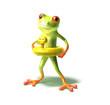 grenouille va nager