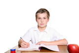 school pupil at desk poster