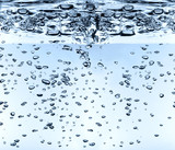 hight definition waterdrops on blue/white background poster