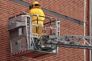 bombero trabajando