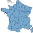 Carte des régions de France métropolitaine