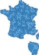 Carte des régions et département de France