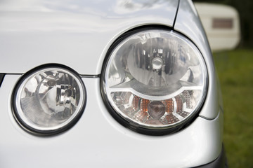 headlamp of a small german car