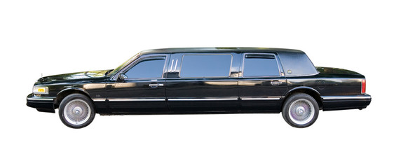 american limousine for weddinds - isolated with clipping paths