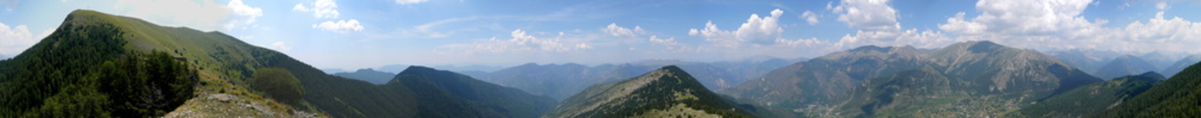 panorama dans le massif du mercantour