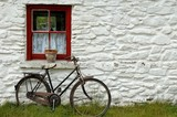 house and bicycle poster