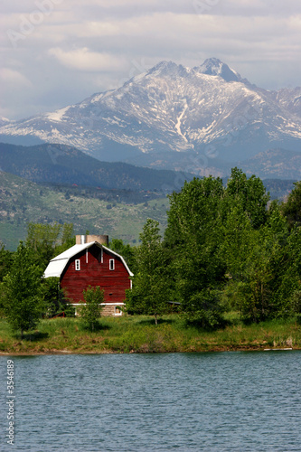 Red Barn And Long's Peak