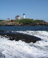 Nubble with waves