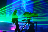 Laser show on performance of musical group poster
