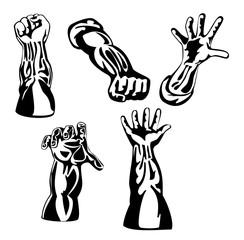 Retro style arms