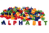 Colored alphabet poster
