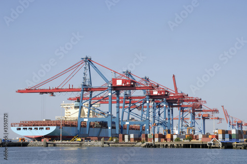 container-ship in loading dock