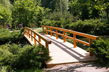 The bridge in the Japanese garden