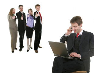 businessman talking by  cell phone