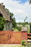 Timber Framed Thatched Normandy House and Picket Gate poster