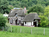 Timber Framed Thatched Normandy House poster