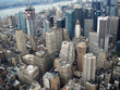 Aerial view of Manhattan on Hudson river