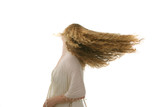 long flying hair poster