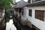 China, Suzhou: typical chinese house poster
