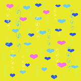 hearts and streamers wrap poster