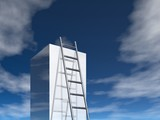 ladder to success (3d image) poster