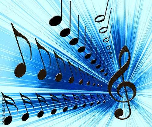 musical notes background. Music notes background
