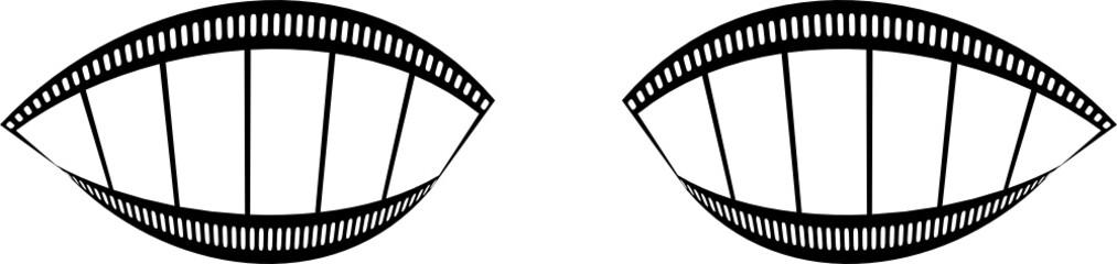 film streifen augen