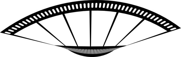 film streifen fächer blatt