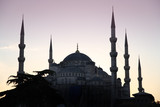 Blaue Moschee in Istanbul poster