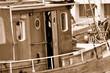 Leinwanddruck Bild - Kajüte eines Fischkutters