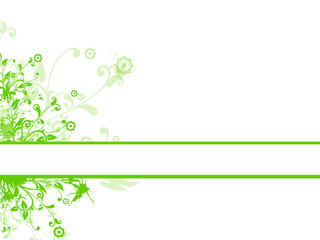 green abstract flora background