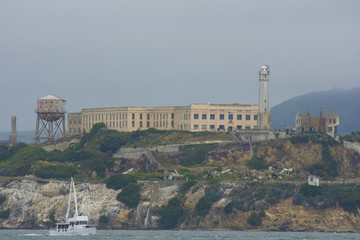 Alcatraz - The Rock - island located on the middle of San