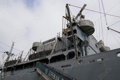 Battleship Jeremiah O'Brien docked in San Francisco Ba Poster