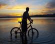 biker in water