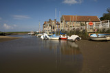 Low tide at Blakeney quay poster