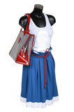 Skirt, vest and bag on a white background poster