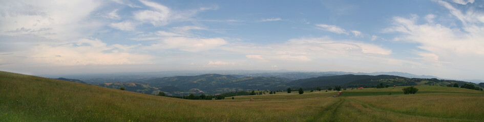 panoramic view from the top of Rajac mountain