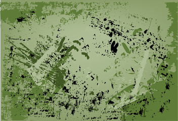 Abstract, grunge background in green tones