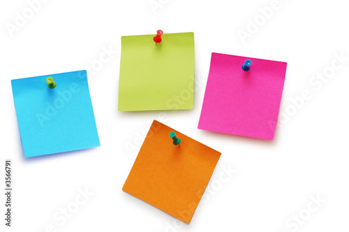 Sticker notes isolated  on the white background - 3566791