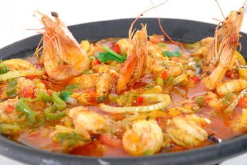 Shrimp stew (Brazilian typical food) .