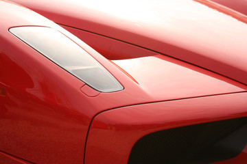 Front of red supercar