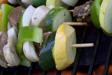 Beef shish ka bobs on the grill summer time is here